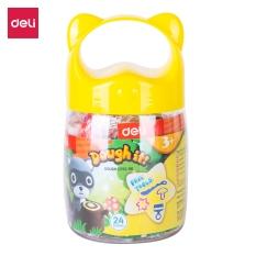 Đất nặn nhiều màu Deli – có khuôn đi kèm – Chất liệu an toàn cho trẻ nhỏ – 12/24 màu – 01 hộp nhựa có quai xách – ED75246 / ED75286