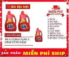 [2 TẶNG 1] COMBO 2 Nước giặt Lix Đậm đặc chai 3,8kg TẶNG 1 chai cùng loại