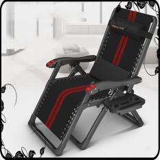 Ghế xếp thư giãn, ghế ngủ trưa, Ghế xếp OYJ-0035 cao cấp massa tay, ngăn đồ