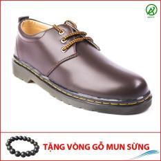 Giày Dr Nam Ngắn Cổ Đế Khâu Da Trơn-M353(GM)-NAU – AROTI OUTLET – LZD IV