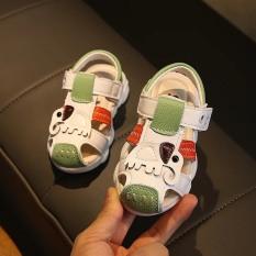 (A-623)-(A-215)-Giày sandal mũi bít bé trai và bé gái, đế gấu mềm, họa tiết voi, phối màu tinh tế, êm chân, nhiều màu A