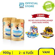 Bộ 2 Lon sữa bột Similac IQ 4 900g Tặng Bộ đồ chơi hướng nghiệp
