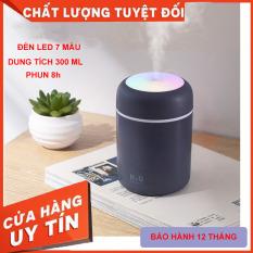 Máy xông tinh dầu, máy phun sương nano mini ô tô 3in 1( tặng kèm lõi bông), máy phun sương tạo ẩm, máy phun sương có đèn LED 7 màu, phun sương điều hòa, đèn ngủ 7 màu, đèn ngủ để bàn, sạc USB, dung tích 300ml mã PS01 [Binmax