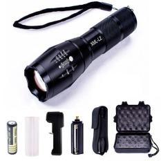 Đèn pin Police T6 AD68 MỚI siêu sáng Tặng Bộ sạc và pin sạc – BH 1 ĐỔI 1