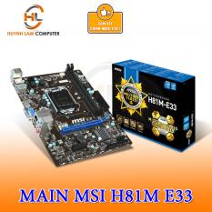 [Nhập ELAPR21 giảm 10% tối đa 200k đơn từ 99k]Main MSI H81M E33 Chính hãng FPT Phân phối