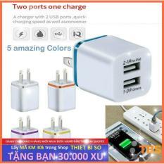 Cốc Sạc USB (Củ Sạc USB) 2 Cổng USB 2.1A và 1A chất lượng cao.