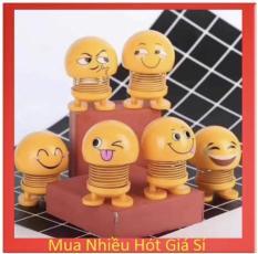 Bộ 4 Con Thú nhún Emoji Lò Xo lắc đầu hình biểu tượng cảm xúc- Trang trí xe ô tô, bàn làm việc- Giảm stress, áp lực hiệu quả