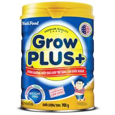 Nuti Growplus xanh lon 900g – Dinh dưỡng hiệu quả giúp trẻ tăng cân khoẻ mạnh