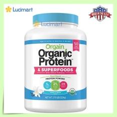 Bột đạm thực vật hữu cơ, Orgain Organic Protein Plant Based Protein Powder [Hàng Mỹ]