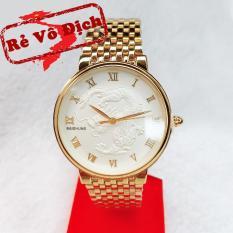 [KHUYẾN MẠI KHỦNG] Tặng vòng phong thủy 150.000đ khi mua Đồng hồ nam mặt rồng vàng trắng cao cấp
