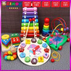 Combo đồ chơi gỗ an toàn cho bé vừa học vừa chơi, đồ chơi giáo dục thông minh phát triển trí tuệ, đồ chơi MONTESSORI, đồ chơi an toàn – TIMONKIDS