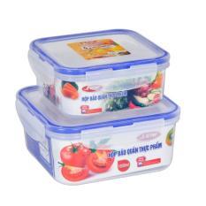 Bộ 2 hộp đựng thực phẩm thức ăn Song Long 2242 ( 1050ml & 600ml )