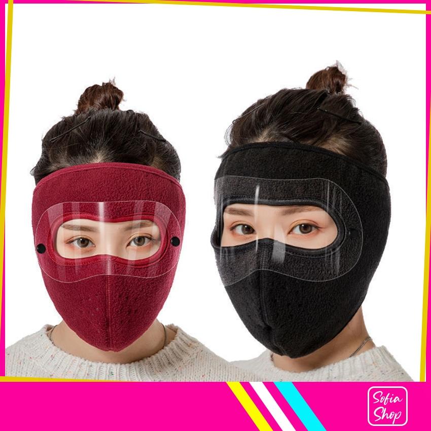 Khẩu Trang Ninja Nin Ja Nam Nữ Vải Nỉ Che Kín Mặt Chống Nắng Chống Bụi Có Kính - Khau...