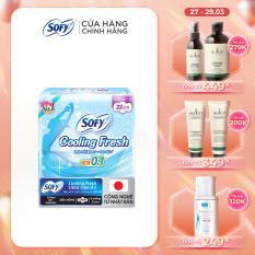 Băng vệ sinh Sofy Cooling Fresh Ultra Slim 0.1 23cm (Gói 8 Miếng)