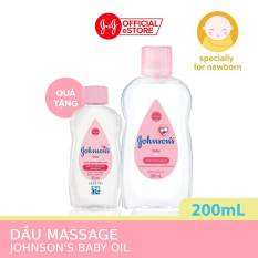 Dầu mát xa dưỡng ẩm Johnson's baby oil pink 200ml tặng Dầu mát xa cùng loại 50ml – 540019977