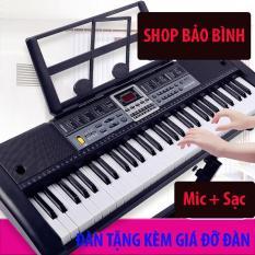 ĐÀN PIANO ĐIỆN – ĐÀN PIANO 61 PHÍM ĐÀN ORGAN ELECTRONIC KEYBOARD CÓ GIÁ ĐỠ ÂM THANH CHÂN THẬT, CÓ ĐỘ BỀN CAO, DỄ DÀNG SỬ DỤNG