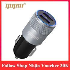 Cốc Sạc Ô Tô, Xe Hơi 2 Cổng USB YOPIN