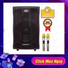 Loa kéo karaoke Ronamax MT15, MF15, Loa bluetooth thùng gỗ 4.5 tấc ( Tặng 2 chống lăn micro )