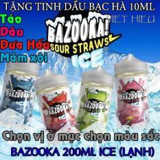 Tinh dầu Hoa quả The Mát Bazooka Ice 200ML 3MG (Siêu mát lạnh) + Tặng Bạc Hà 10ml