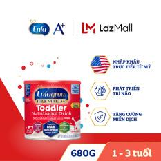 [FREESHIP] [Nhập khẩu Mỹ] Thức uống dinh dưỡng Enfagrow Premium Toddler Hương sữa tự nhiên cho trẻ trên 1 tuổi 680g