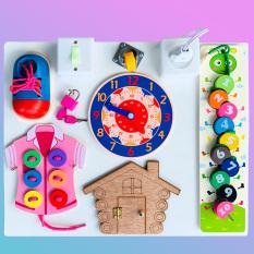 Đồ Chơi Montessori,Bảng Bận Rộn Busy Board Giúp Bé Vừa Chơi Vừa Học Tập Kỹ Năng Buộc Giày,Khuy Áo Benrikids,Đồ Chơi Thông Minh