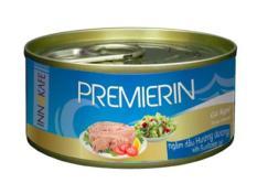 Cá ngừ trắng đóng hộp PREMIERIN 185g/130g – PACK 4 lon