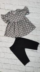 set áo lửng phối quần legging lửng cho bé 10-45kg(bi xám)