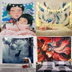 [Tặng Đèn Led và Móc Treo] Vải treo tường, Thảm treo tường trang trí phòng ngủ, Decor phòng ngủ, tranh vải treo tường phòng khách