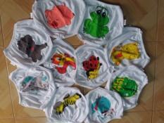 Set 10 quần chip trắng bé trai/bé gái CÁC MẪU Y HÌNH (về lại 1/6),{lướt hình nền chọn size}