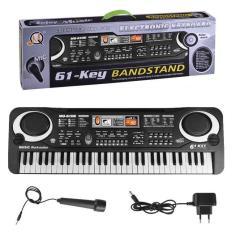 Đàn Piano Điện Tử 61 Phím Kèm mic Cho Bé giúp bé học tập,luyện thanh nhạc,tập hát,chơi nhạc giải trí vvv 2020
