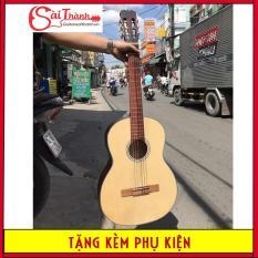 Đàn guitar classic gỗ vân sam tặng kèm phụ kiện học đàn: BAO ĐỰNG ĐÀN + GIÁO TRÌNH HỌC ĐÀN + PICK GÃY