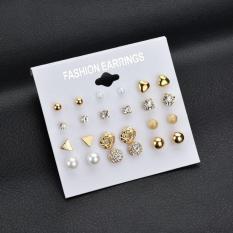 Vỉ set combo 12 đôi bông tai nhiều mẫu siêu đẹp phụ kiện của idol thời trang hàn quốc giá tốt Mẫu mới nhất của sheelove