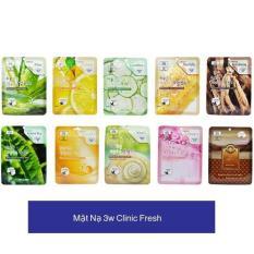 Mặt nạ dưỡng da 3W CLinic Fresh Mask Sheet 23ml (Giao màu ngẫu nhiên)