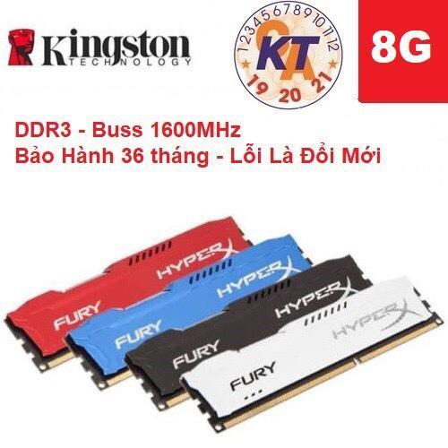Bộ nhớ Ram máy tính Kingston HyperX Fury DDR3 1600 8GB mới 100% bảo hành 36 tháng lỗi đổi mới...