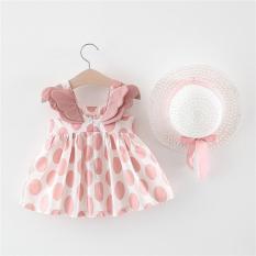 Bộ váy đầm ĐÔI CÁNH THIÊN THẦN tặng nón xinh xắn dễ thương cho bé V17 (từ 6-18Kg)