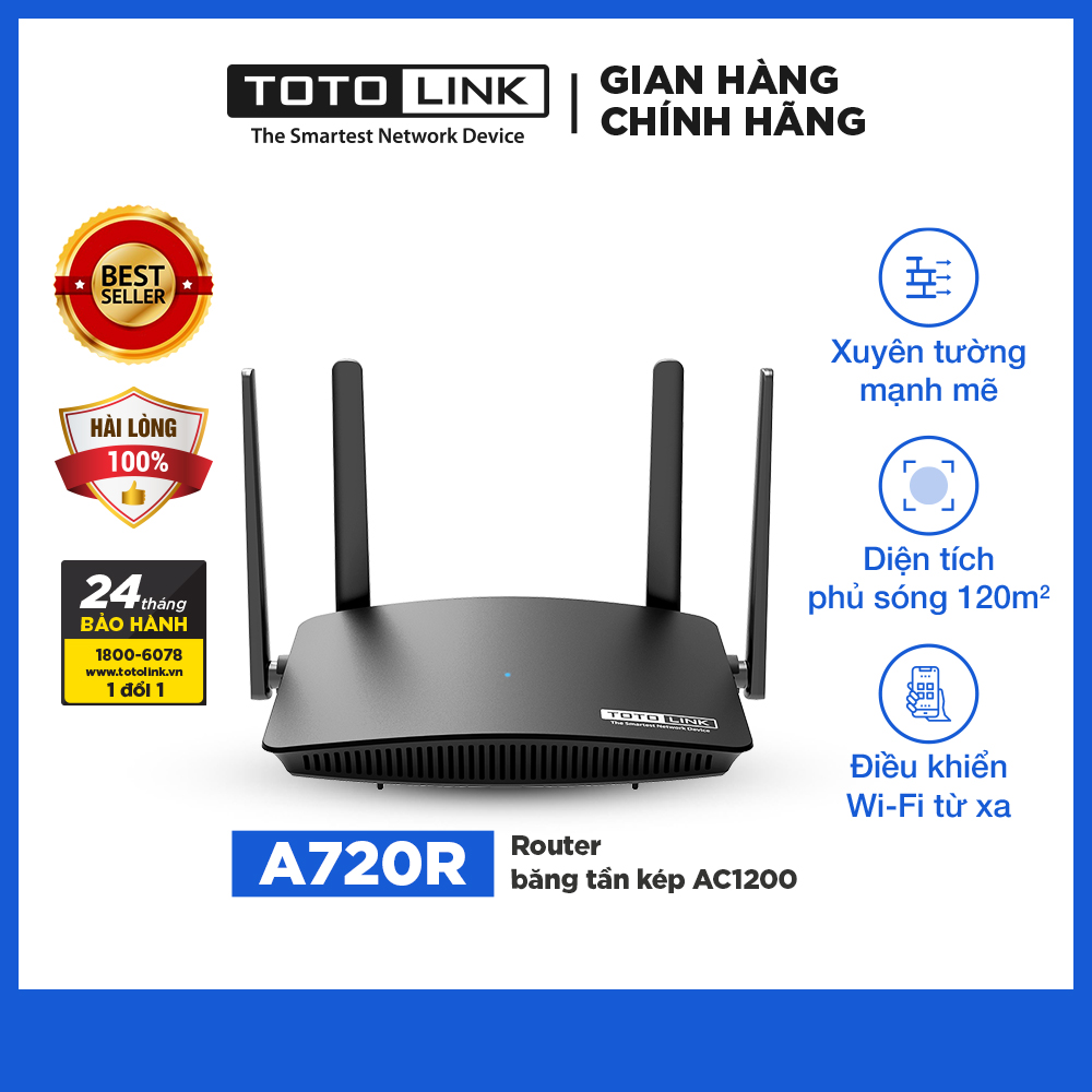 TOTOLINK - A720R - Router băng tần kép AC1200