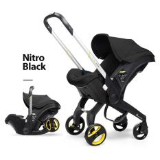 [Có Video] Ghế ngồi ô tô cho bé kết hợp xe đẩy và nôi xách chịu tải đến 13kg, ghế ngồi ô tô 3in1 Mstar mẫu mới 2021 (màu đen)