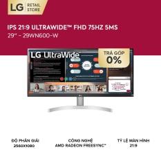 [GIFT CARD 200K – TRẢ GÓP 0%] Màn hình máy tính LG 21:9 HDR IPS UltraWide™ (2560×1080) 75Hz 5ms 29 inches l 29WN600-W   HÀNG CHÍNH HÃNG