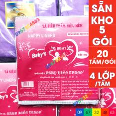 Bộ miếng lót phân su BABY HIỀN TRANG 4 lớp 5 gói