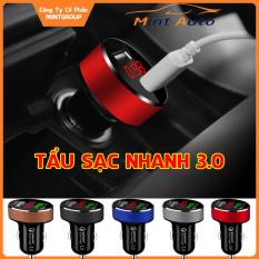 Tẩu sạc oto tau sac xe tẩu sạc USB cốc sạc dock sạc tẩu sạc củ sạc đa năng, tẩu sạc nhanh cho xe hơi xe ôtô 2 cổng USB màn hình LED hiển thị điện áp