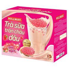Hộp Trà Sữa Trân Châu HILLWAY Vị Dâu 225g