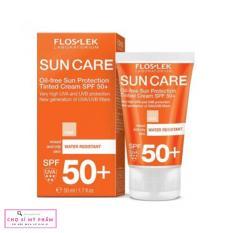 Kem chống nắng bảo vệ da nhờn mụn Floslek Oil Free Sun Protection Tinted Cream SPF 50+ 50ml