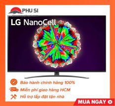 Smart tivi NanoCell LG 4K 55 inch 55NANO81TNA ThinQ AI, được thiết kế để hòa hợp với bất kỳ không gian nội thất nào và mang lại trải nghiệm xem tuyệt vời mà không bị gián đoạn