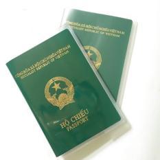 Vỏ bao passport, Bao đựng hộ chiếu, passport cover có khe nhét thẻ chất liệu PVC trong suốt, chống ướt, chống trầy, chống rách