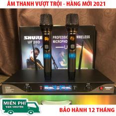 [ HÀNG MỚI 2021 ] MICRO KHÔNG DÂY SHURE UR20D – ComBo 2 MICRO- Tần số ứng dụng 730-860MHZ- Sử dụng ngõ ra: 6 ly và cổng Balance cho mỗi bên- Đáp ứng tần số âm thanh : 80 Hz – 18 KHZ- Bảo Hành 12 Tháng