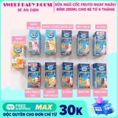 Sữa Fruto Nyannyan Nga ngày đêm tăng cân cho bé từ 6 tháng 200ml. Date 5/2021 – Sweet Baby House
