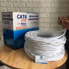 Dây mạng UTP Cat6 Nasun MEDI-0555 cuộn 305M