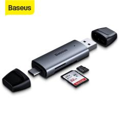 Đầu Đọc Thẻ Nhớ Baseus 2 Trong 1 USB 3.0 SD TF 5Gbps Type-C Tốc Độ Cao Dành Cho XiaoMI Redmi Samsung Huawei Oppo Vivo