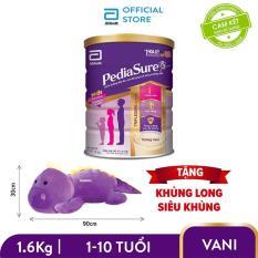 [GIẢM 40K CHO ĐƠN 1.2 TRIỆU] Bộ 1 lon sữa bột Pediasure 1.6kg hương vani tặng Khủng long siêu khủng (90cm x 30cm)