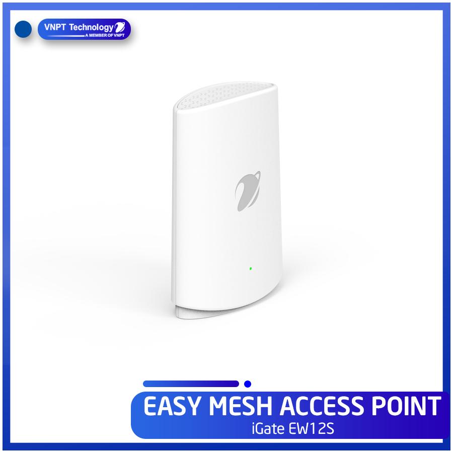 Thiết bị phát sóng Mesh Wifi Easy Mesh Access point iGate EW12S – Hàng chính hãng VNPT Technology